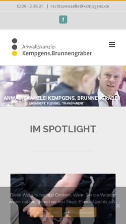 Vorschau der mobilen Webseite www.kempgens.de, Kempgens, Brunnengräber und Partner, Rechtsanwälte und Notare