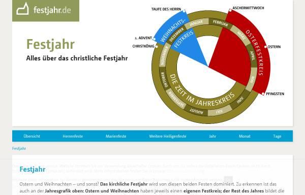 Vorschau von www.festjahr.de, Kirchliches Festjahr