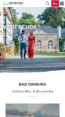 Vorschau der mobilen Webseite www.bad-driburg.com, Bad Driburg Touristik GmbH