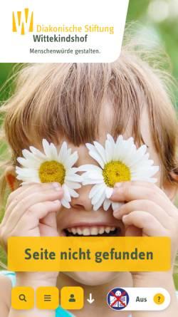 Vorschau der mobilen Webseite www.wittekindshof.de, Berufsbildungswerk Wittekindshof