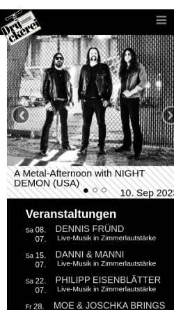 Vorschau der mobilen Webseite www.dbbo.de, Druckerei Begegnungszentrum e.V