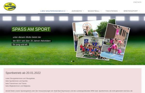 Vorschau von www.1-bsvwulferdingsen.de, 1. BSV Wulferdingsen e.V.