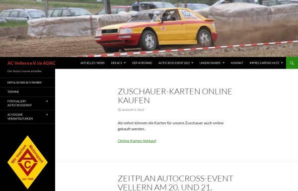 Vorschau von www.ac-vellern.de, Altwagen Club - Vellern e.V.