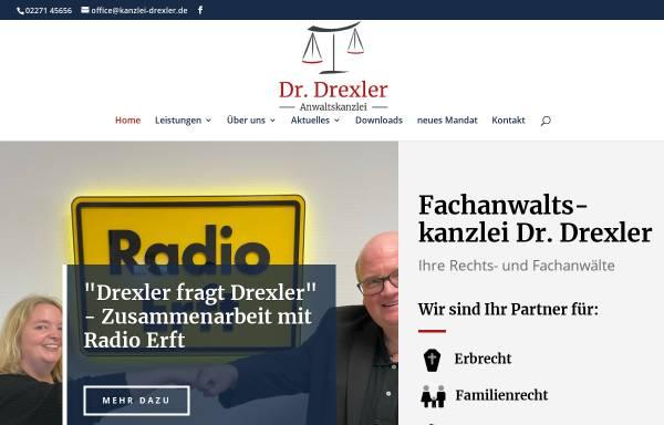 Vorschau von www.ra-drexler.de, Anwaltskanzlei Dr. jur. Volker Drexler