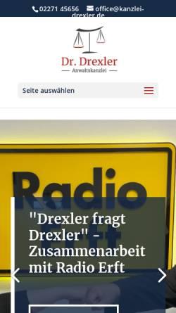 Vorschau der mobilen Webseite www.ra-drexler.de, Anwaltskanzlei Dr. jur. Volker Drexler