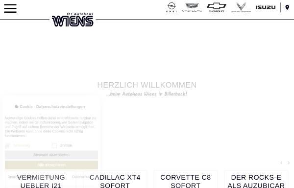 Vorschau von www.wiens.de, Autohaus Wiens