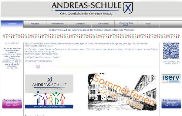 Vorschau von www.andreas-schule-bestwig.de, Andreas Schule - Gemeinschaftsgrundschule der Gemeinde Bestwig