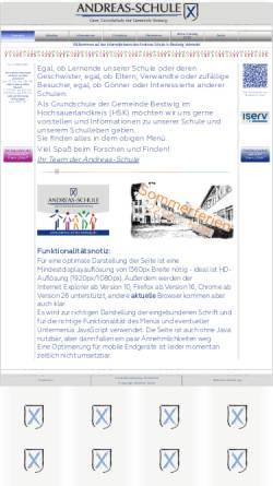 Vorschau der mobilen Webseite www.andreas-schule-bestwig.de, Andreas Schule - Gemeinschaftsgrundschule der Gemeinde Bestwig