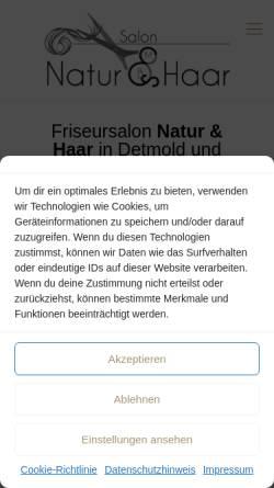 Vorschau der mobilen Webseite www.natuerlich-schoen.de, Natürlich Schön