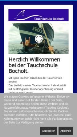 Vorschau der mobilen Webseite www.tauchschule-bocholt.com, Just Dive - Tauchen in Bocholt