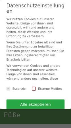 Vorschau der mobilen Webseite www.schuhtechnik.de, Kampshoff