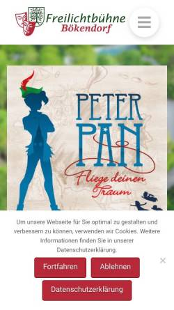 Vorschau der mobilen Webseite freilichtbuehne-boekendorf.de, Freilichtbühne Bökendorf e.V.