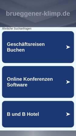 Vorschau der mobilen Webseite www.brueggener-klimp.de, Akzent Hotel - Restaurant Brüggener Klimp