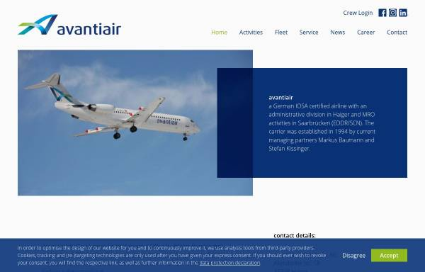 Vorschau von www.avantiair.com, avantiair GmbH & Co. KG