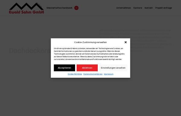 Vorschau von www.ewald-sahm.de, Ewald Sahm GmbH