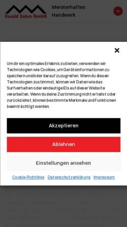 Vorschau der mobilen Webseite www.ewald-sahm.de, Ewald Sahm GmbH