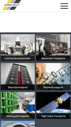 Vorschau der mobilen Webseite www.georgi-transporte.com, Georgi Transporte GmbH Co.KG