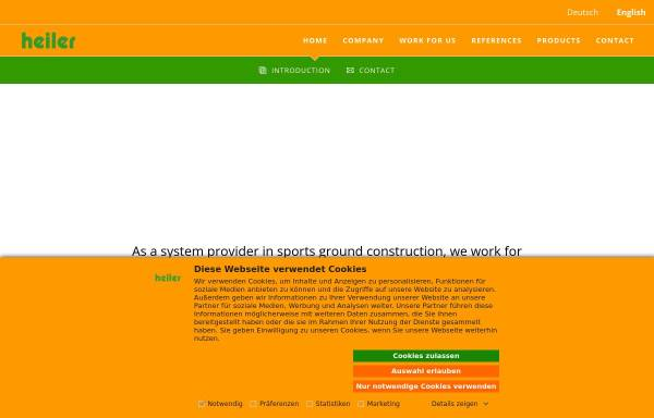 Vorschau von www.heiler-sport.de, Heiler GmbH & Co. KG