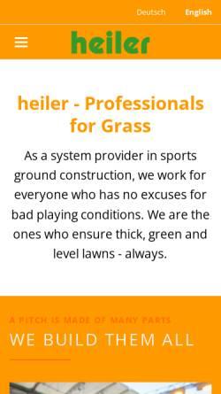 Vorschau der mobilen Webseite www.heiler-sport.de, Heiler GmbH & Co. KG