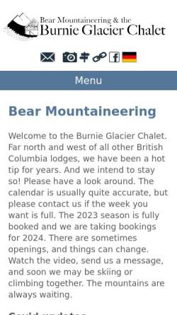 Vorschau der mobilen Webseite www.bearmountaineering.ca, Bear Mountaineering