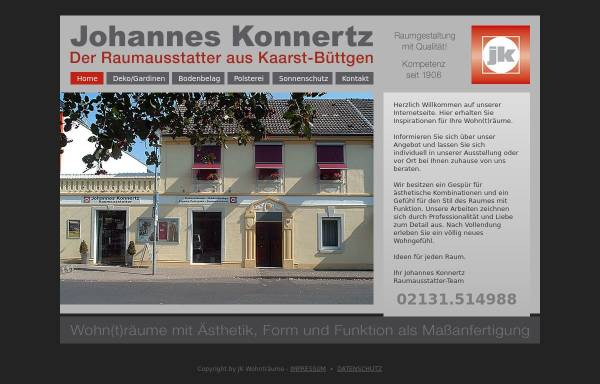Vorschau von www.jk-wohntraeume.de, Raumausstatter Johannes Konnertz