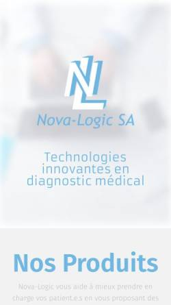 Vorschau der mobilen Webseite www.nova-logic.ch, Nova-Logic SA