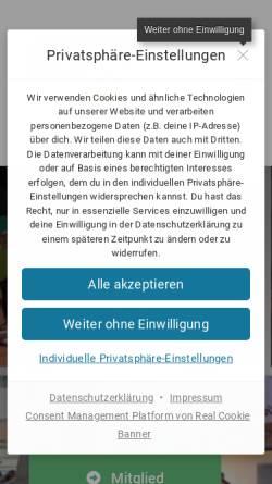 Vorschau der mobilen Webseite ktc-kerken.de, Kerkener Tennis Club 1980 e.V.