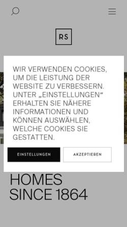 Vorschau der mobilen Webseite www.ralf-schmitz.de, Ralf Schmitz GmbH & Co. KG - Wohnungsbaugesellschaft