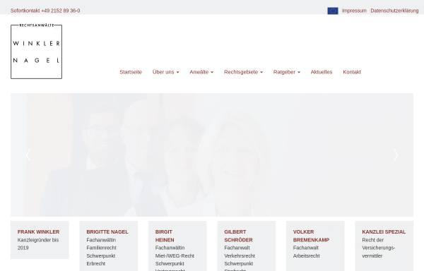 Vorschau von www.anwaelte-kempen.de, Rechtsanwälte Frank Winkler, Brigitte Nagel, Birgit Heinen und Gilbert Schröder