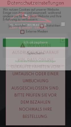 Vorschau der mobilen Webseite www.ms-kartcenter.de, Michael Schumacher Kart-Center
