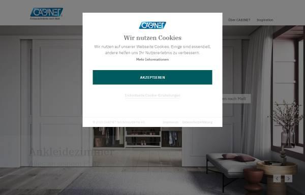 Vorschau von www.cabinet.de, Cabinet Schranksysteme AG