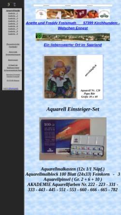 Vorschau der mobilen Webseite www.freismuth.de, Aquarellstudio Freismuth