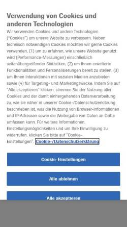 Vorschau der mobilen Webseite www.roche.de, Roche Deutschland Holding GmbH