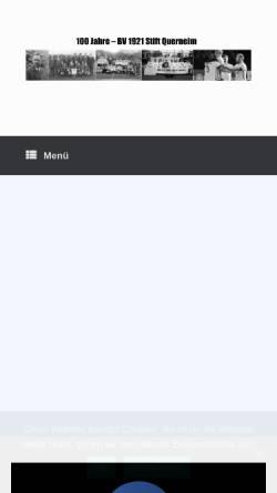Vorschau der mobilen Webseite www.bv21.de, BV 21 Stift Quernheim - Second Edition