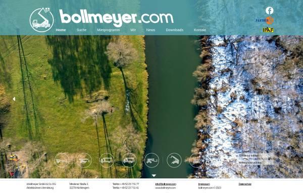 Vorschau von www.bollmeyer-arbeitsbuehnen.de, Dieter Bollmeyer GmbH & Co. KG, Arbeitsbühnen-Vermietung