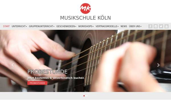 Vorschau von www.koeln-musikschule.com, Musikschule Köln e.V.