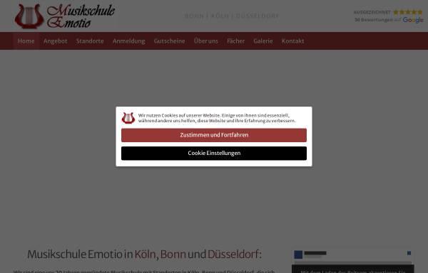 Vorschau von www.musikschule-emotio.de, Musikschule Emotio