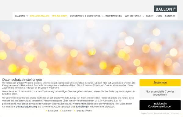 Vorschau von www.balloni.de, BALLONI GmbH