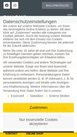 Vorschau der mobilen Webseite www.balloni.de, BALLONI GmbH