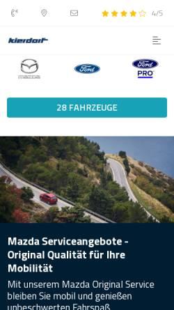Vorschau der mobilen Webseite www.ford-kierdorf.de, Autohaus Kierdorf Vertriebs GmbH