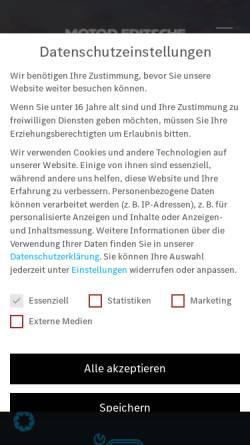 Vorschau der mobilen Webseite motor-fritsche.de, Motor Fritsche