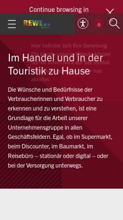 Vorschau der mobilen Webseite www.rewe-group.com, REWE-Zentral-Aktiengesellschaft