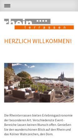 Vorschau der mobilen Webseite www.rhein-terrassen.de, Rheinterrassen