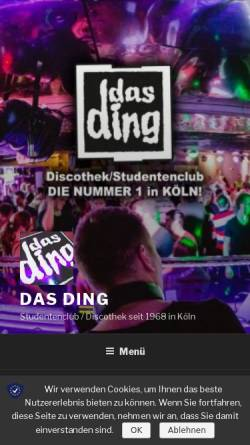 Vorschau der mobilen Webseite www.dingzone.de, Das Ding