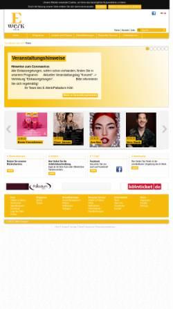 Vorschau der mobilen Webseite www.e-werk-koeln.de, E-Werk