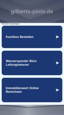 Vorschau der mobilen Webseite www.gilberts-pinte.de, Gilbert´s Pinte