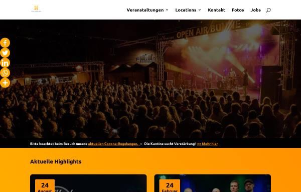 Vorschau von kantine.com, Die Kantine Kulturbetrieb GmbH