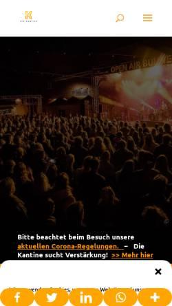 Vorschau der mobilen Webseite kantine.com, Die Kantine Kulturbetrieb GmbH