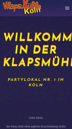 Vorschau der mobilen Webseite www.klapsmuehle.com, Klapsmühle