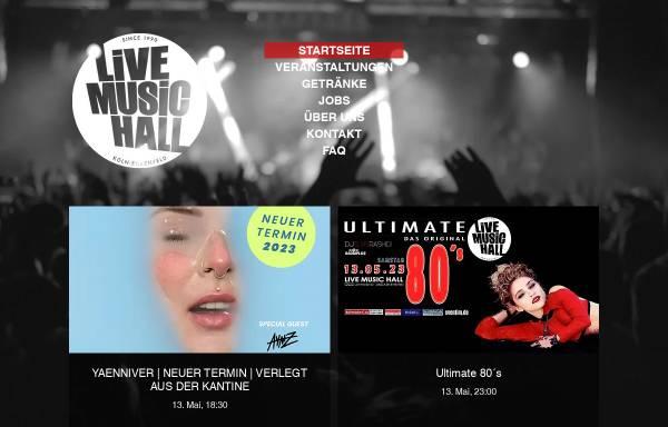 Vorschau von www.livemusichall.de, Live Music Hall